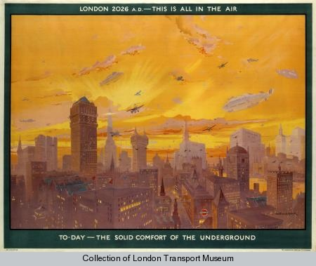 London 2026 AD; this is all in the air, by Montague B Black, 1926