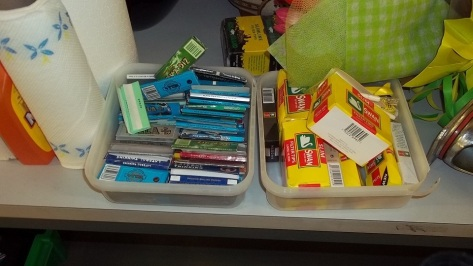 Cigarette papers and filter tips in the Lost Property Office