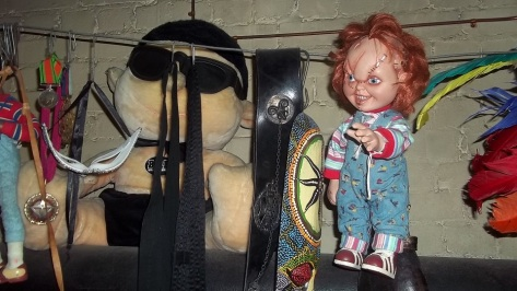 A doll from the fipm Childs Play in the Lost Property Office