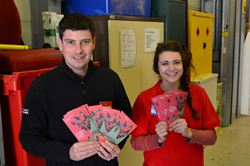 Paul and Eva-Marie proudly display their leaflets