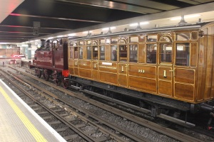Test train at Moorgate, 16th December 2012