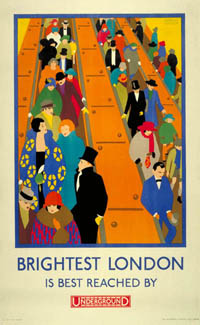 2-Brightest London is best reached by Underground
