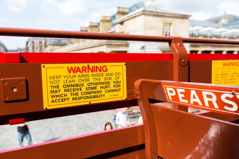 Battle Bus Press Launch Warning Sign