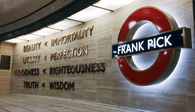 Frank Pick: BEAUTY < IMMORTALITY