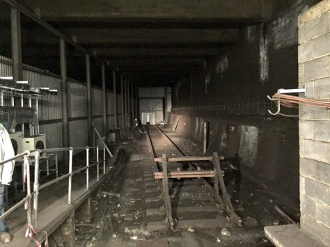 """The """"secret"""" now-disconnected never-used siding deep beneath King's Cross on the Metropolitan, Hammersmith & City and Circle lines. It was built to enable goods trains to take spoil out by rail, but was never used in this way."""