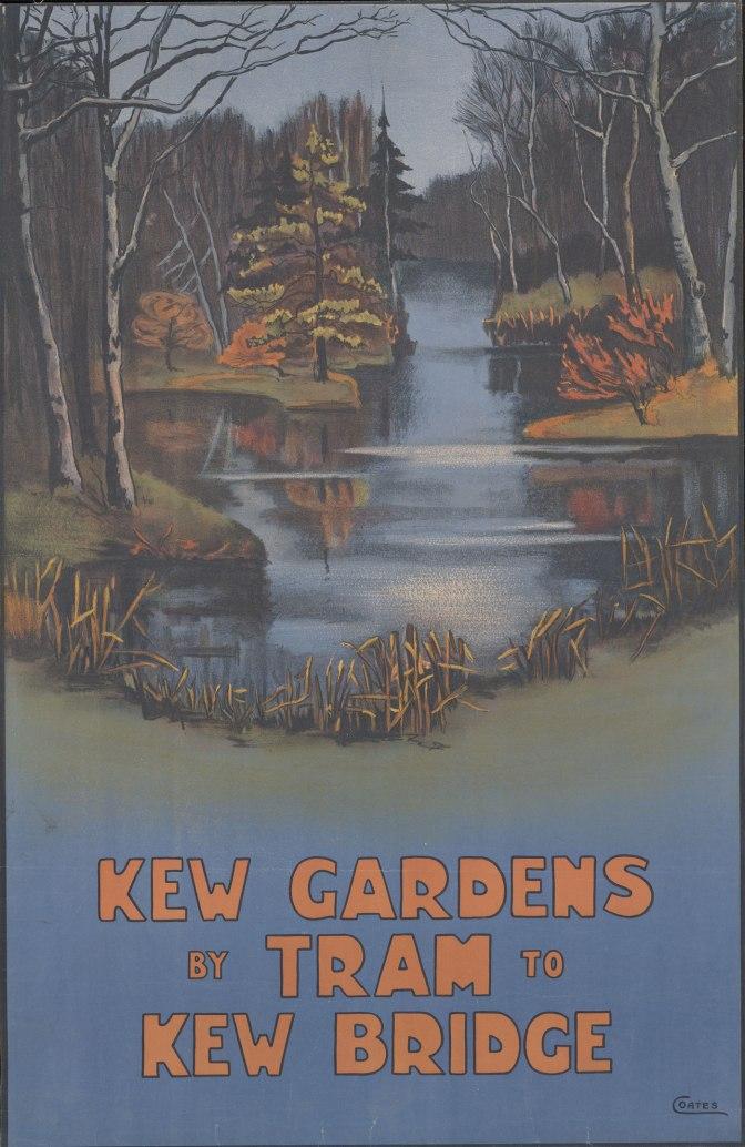Kew Gardens by tram, Ella Coates,1910