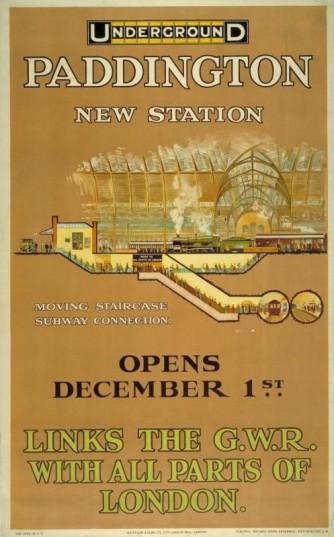 Paddington New Station, by Charles Sharland, 1913