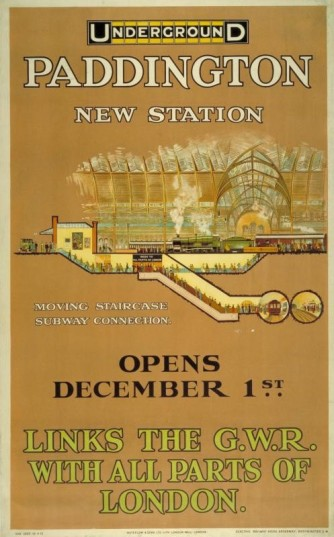 Paddington New Station, by Charles Sharland, 1913