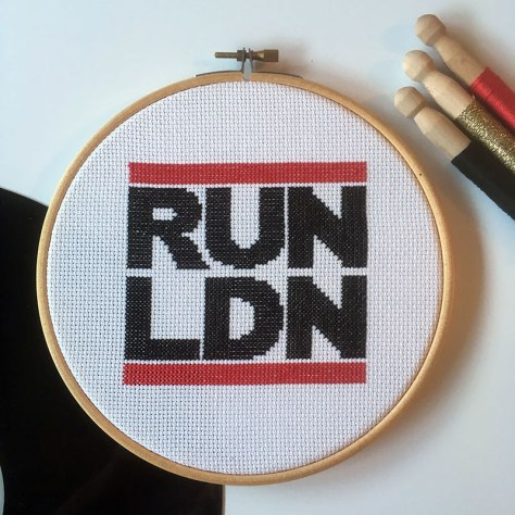 Run LDN cross stitch