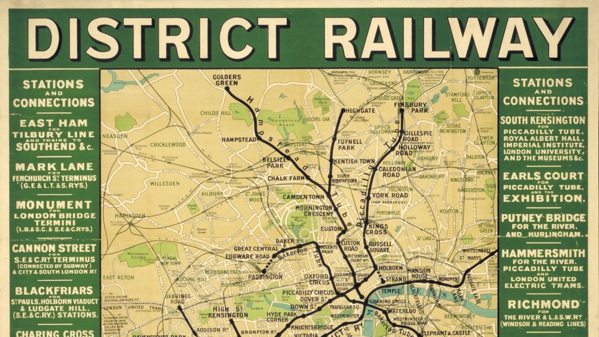 London Map Train Stations.District Line A History In Maps London Transport Museum Blog